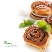 Buns with poppy seed — Stockfoto