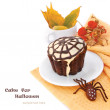 Decorated Halloween Cupcake - Stock Photo