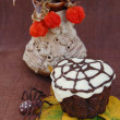 Stock Photo: Decorated Halloween Cupcake