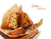 Slices of fruitcake — Stock Photo