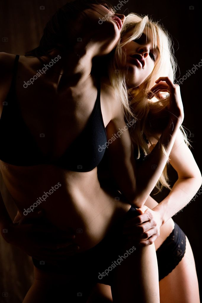 Two young woman in lingerie — Stock Photo #10826203