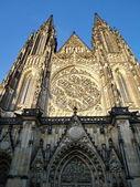 Saint Vitus' Cathedral in Prague's Castle — Foto de Stock