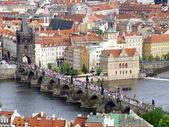 Charles bridge of Prague from above — Stock Photo