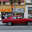 Cool red car at the streets os Hollywood — Stock Photo