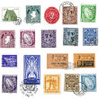 Postage stamps and labels from Ireland — Stock Photo #11118869