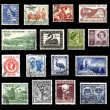 Postage stamps from Australia - Stock Photo