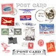 Postage stamps and labels from US — Stock Photo