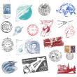 Postage stamps and labels from former Soviet Union — Stock Photo #11118978