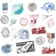 Postage stamps and labels from the former Soviet Union — Stock Photo #11118978