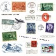 Postage stamps and labels from US — Stock Photo #11119159