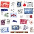 Postage stamps and labels from Canada — Stock Photo #11119465