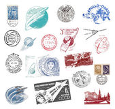 Postage stamps and labels from the former Soviet Union — Stock Photo