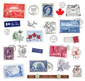 Postage stamps and labels from Canada — Stock Photo