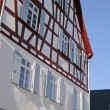 Stock Photo: Renovated half-timbered house