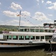 Excursion boat on the Rhine — Stok fotoğraf