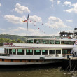 Excursion boat on the Rhine — Stock Photo