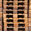 Stacked Euro pallets — Stock Photo