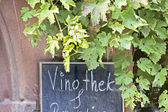 Sign wine bar — Stock Photo