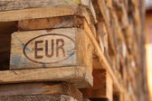 Euro pallet — Stock Photo