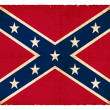 Foto de Stock  : Grunge Confederate Flag