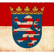 Grunge flag of the province Hesse (Germany) — Stockfoto
