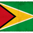 Grunge flag of Guyana - Stock Photo