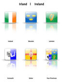 Glossy icons Ireland — Stock Photo