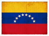 Grunge flag of Venezuela — Stockfoto