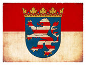 Grunge flag of the province Hesse (Germany) — Stock Photo