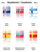 Glossy icons Scandinavia (Part 2) — 图库照片