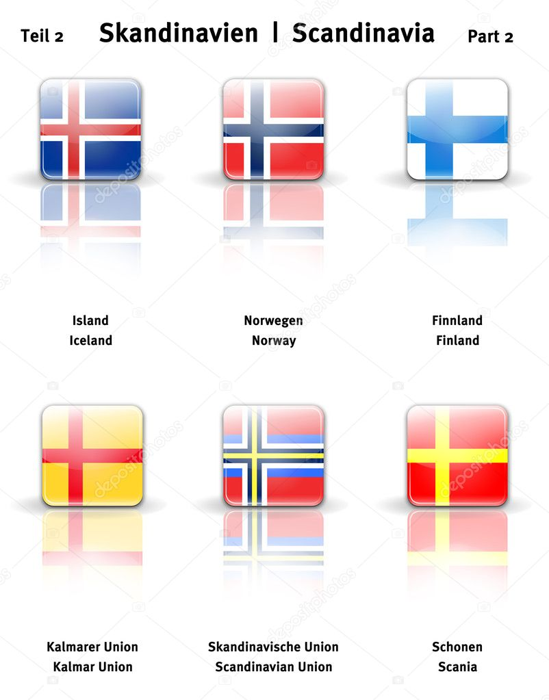 High resolution glossy  icons of Scandinavia (Part 2)  Stock Photo #11566155