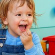 Foto Stock: Laughing kid