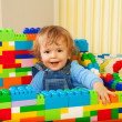 Constructing with toy blocks is fun — Stock Photo #10957263
