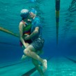 Special kiss - underwater shoot — Stock Photo