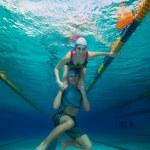 Couple having fun underwater — Stock Photo