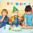 Royalty-Free Stock Photo: Boys and girl at the birthday party