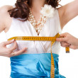 Measuring breast size — Stock Photo