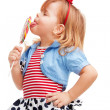 Taking pleasure of lollipop — Stock Photo #10958824