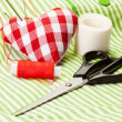 Stitching the heart — Stock Photo
