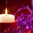 NY candle and decorations — Foto Stock #10959084
