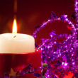 Stock Photo: NY candle and decorations