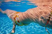 Cuerpo de mujer nadador — Foto de Stock