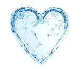 Heart made of water — Stock Photo