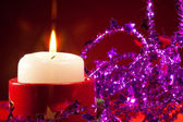 NY candle and decorations — Stock Photo