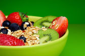 Healthy muesli with fruits breakfast — Stock Photo