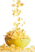 Big tasty breakfast with corn flakes — Stock Photo