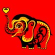 Red elephant — Stock Vector