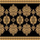 černá východ ornament — Stock vektor