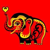 红色大象 — 图库矢量图片
