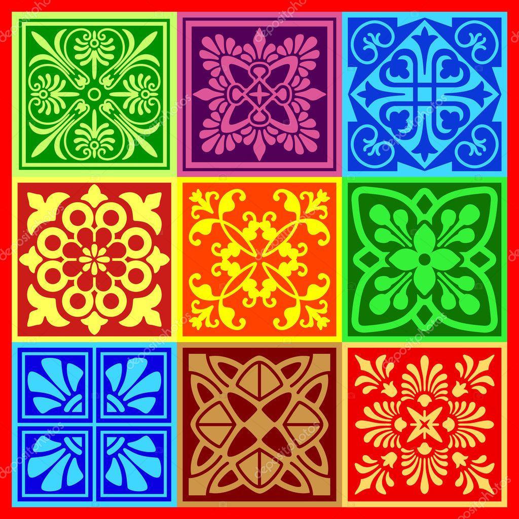 Декоративные узоры в квадрате